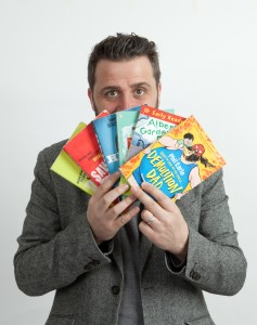 Phil Earle with his books